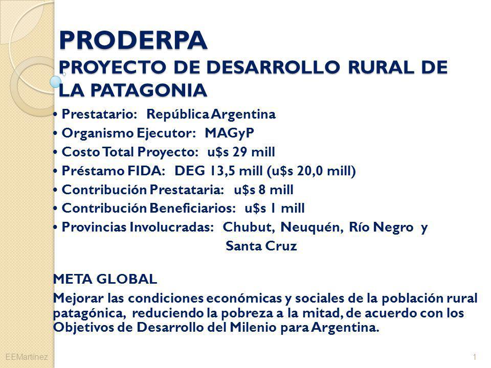 PRODERPA PROYECTO DE DESARROLLO RURAL DE LA PATAGONIA