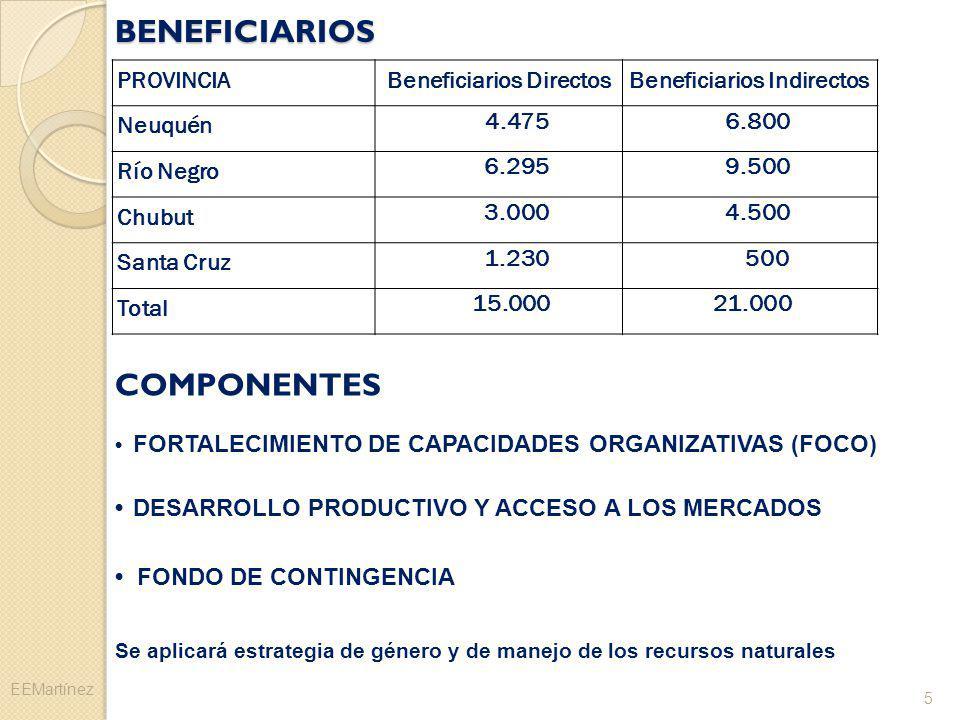 Beneficiarios Directos Beneficiarios Indirectos