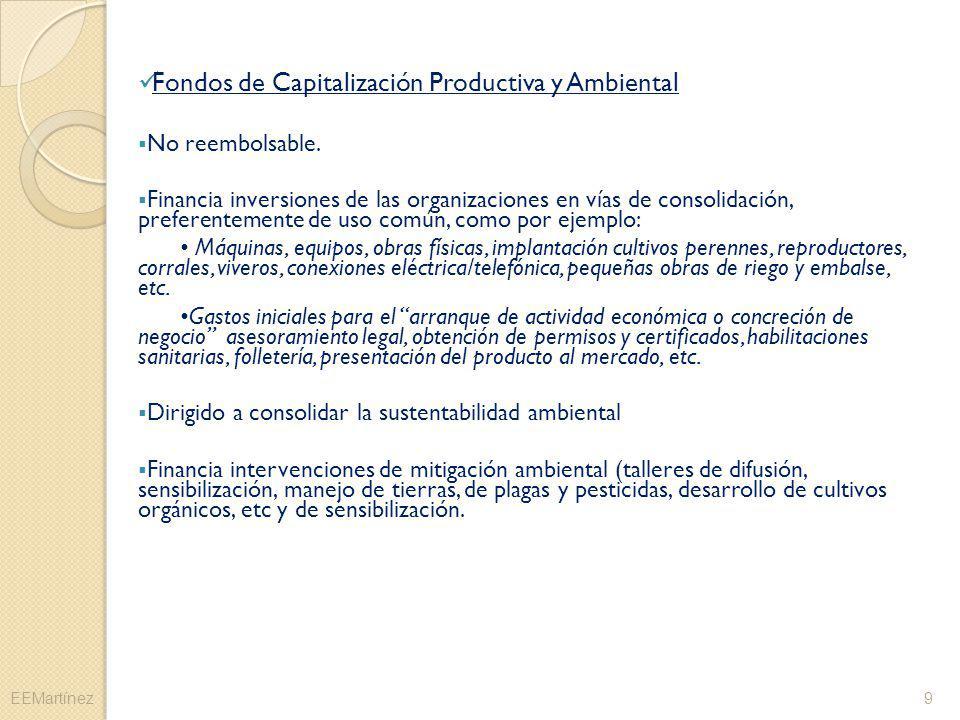 Fondos de Capitalización Productiva y Ambiental