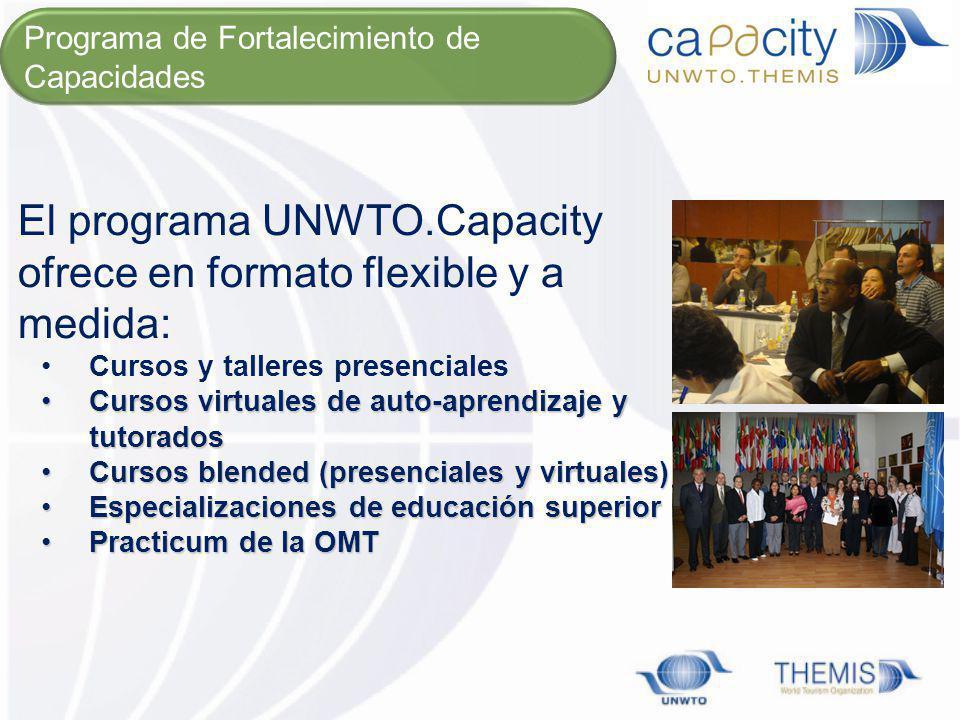 El programa UNWTO.Capacity ofrece en formato flexible y a medida:
