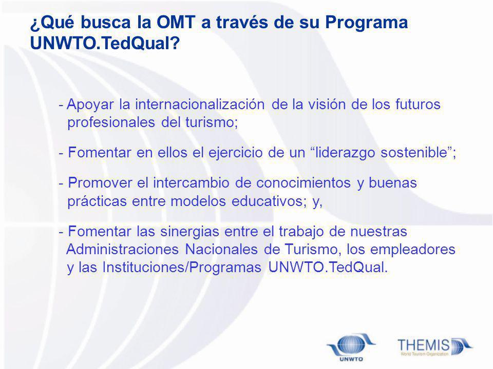 ¿Qué busca la OMT a través de su Programa UNWTO.TedQual