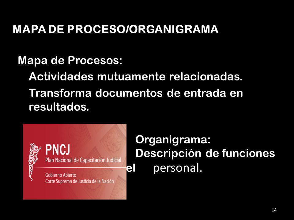 MAPA DE PROCESO/ORGANIGRAMA