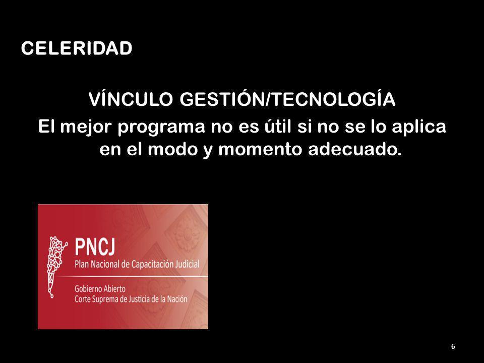 VÍNCULO GESTIÓN/TECNOLOGÍA