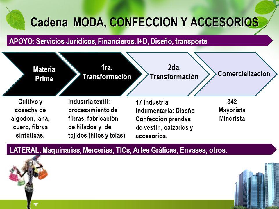 Cadena MODA, CONFECCION Y ACCESORIOS