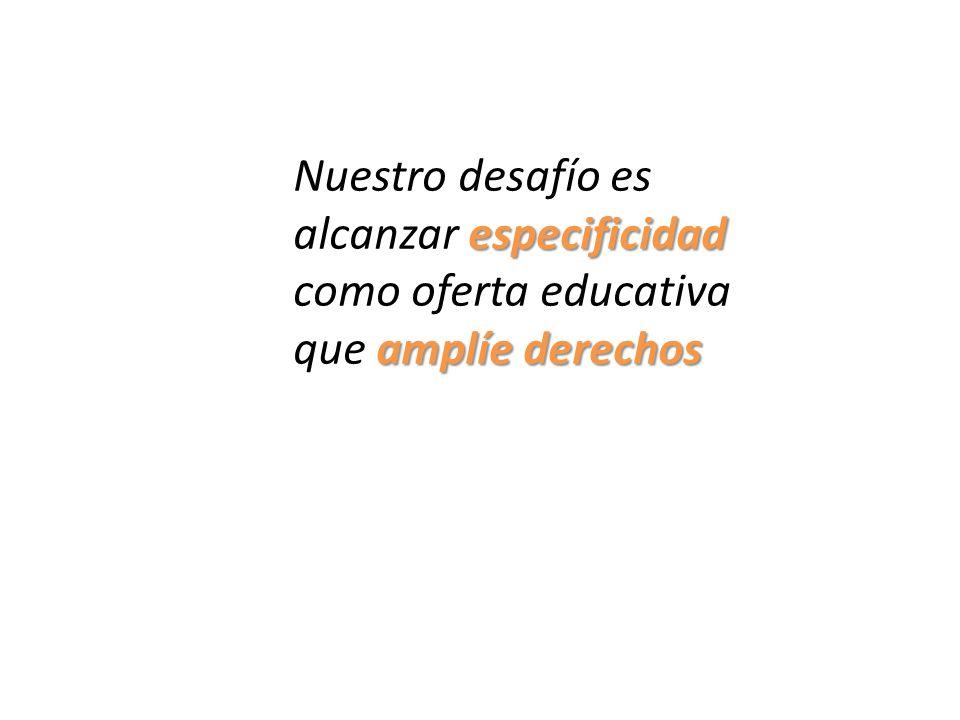 Nuestro desafío es alcanzar especificidad como oferta educativa que amplíe derechos