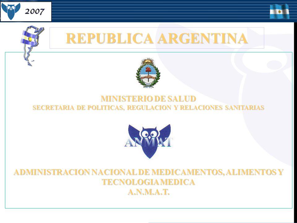 ADMINISTRACION NACIONAL DE MEDICAMENTOS, ALIMENTOS Y TECNOLOGIA MEDICA