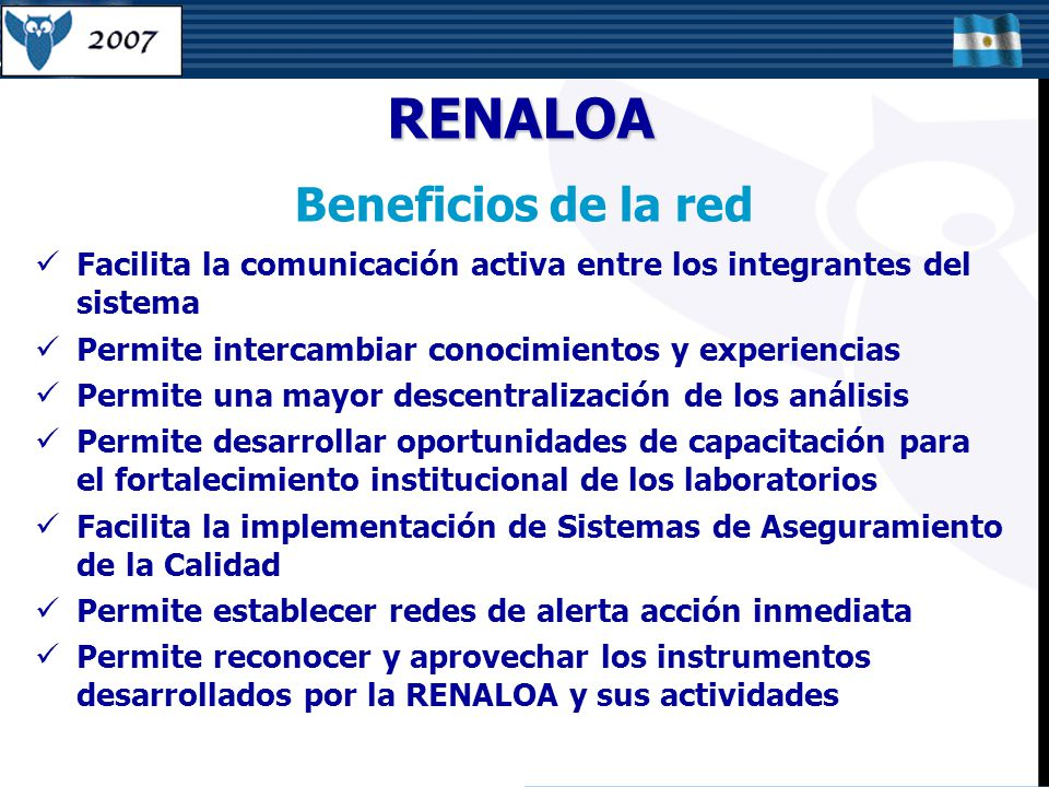 RENALOA Beneficios de la red