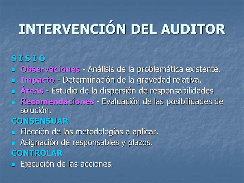 INTERVENCIÓN DEL AUDITOR