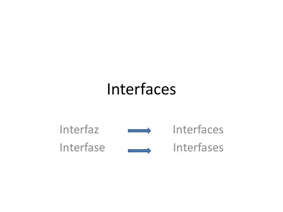 Interfaz Interfaces Interfase Interfases