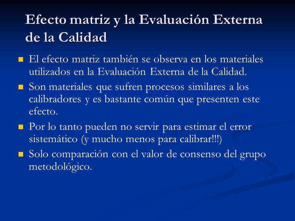 Efecto matriz y la Evaluación Externa de la Calidad