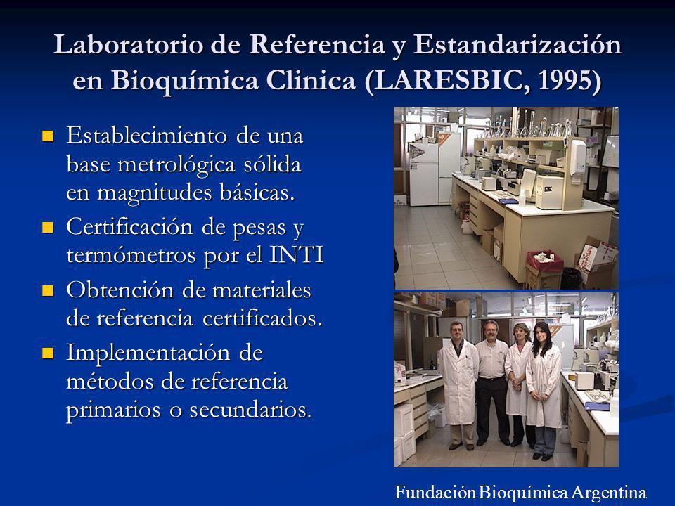 Laboratorio de Referencia y Estandarización en Bioquímica Clinica (LARESBIC, 1995)