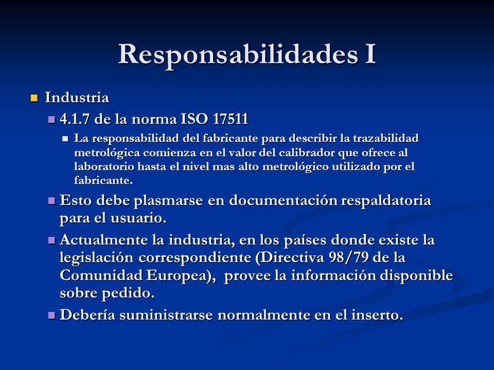 Responsabilidades I Industria 4.1.7 de la norma ISO 17511
