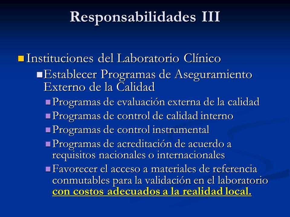 Responsabilidades III