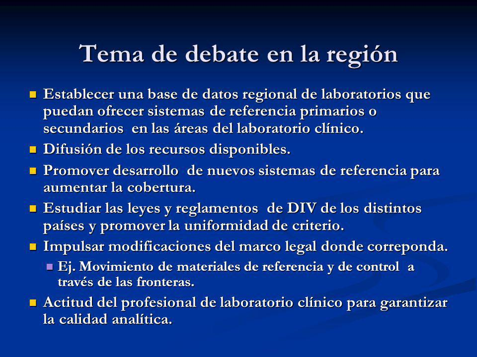 Tema de debate en la región