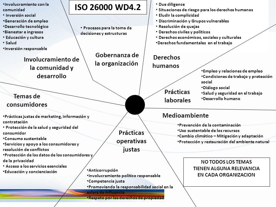ISO 26000 WD4.2 Gobernanza de la organización Derechos humanos