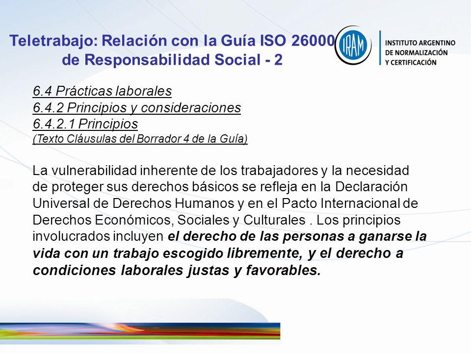 Teletrabajo: Relación con la Guía ISO 26000 de Responsabilidad Social - 2
