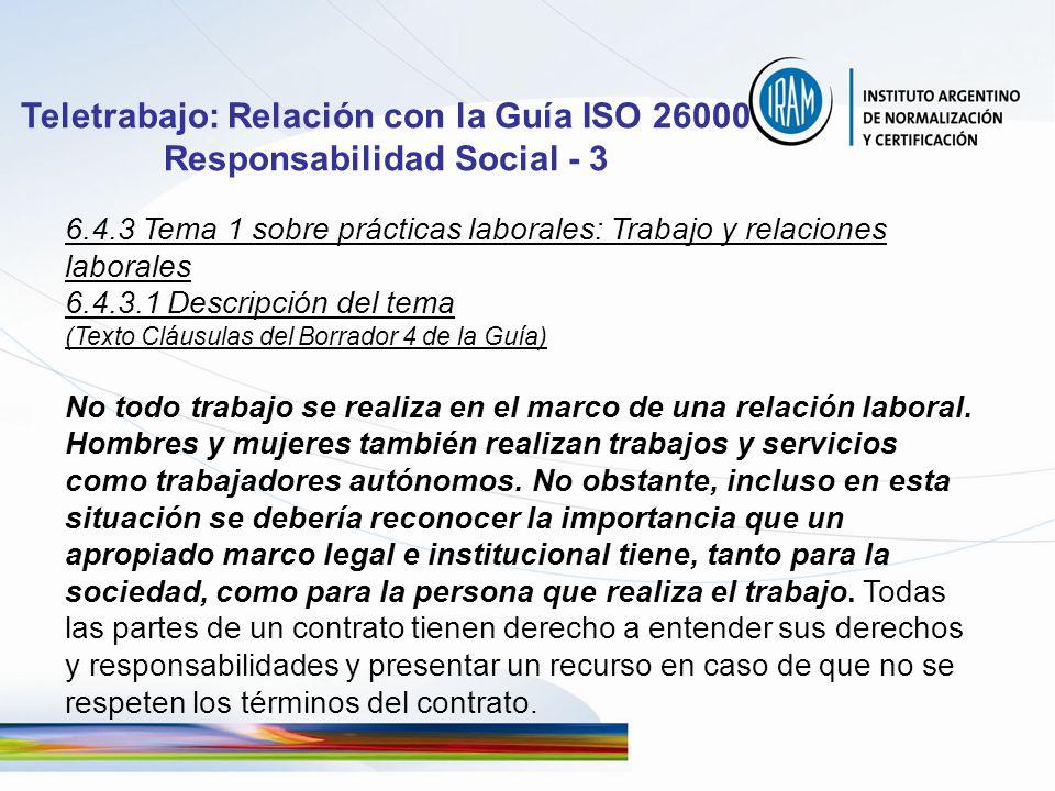 Teletrabajo: Relación con la Guía ISO 26000 Responsabilidad Social - 3