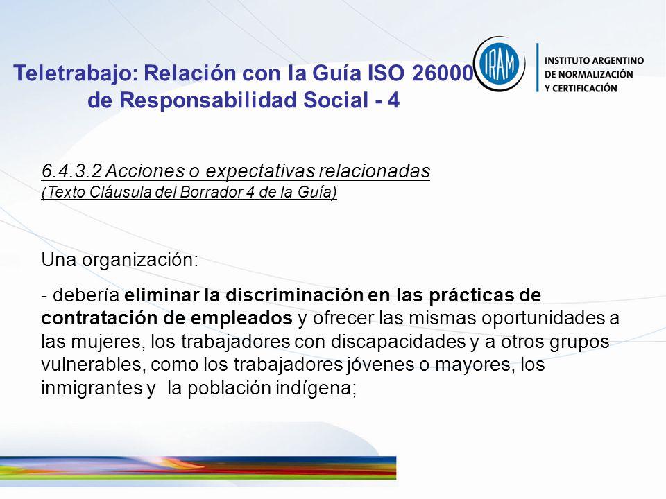 Teletrabajo: Relación con la Guía ISO 26000 de Responsabilidad Social - 4