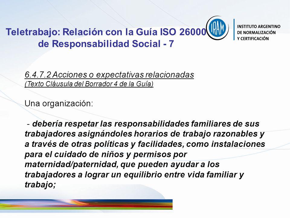 Teletrabajo: Relación con la Guía ISO 26000 de Responsabilidad Social - 7