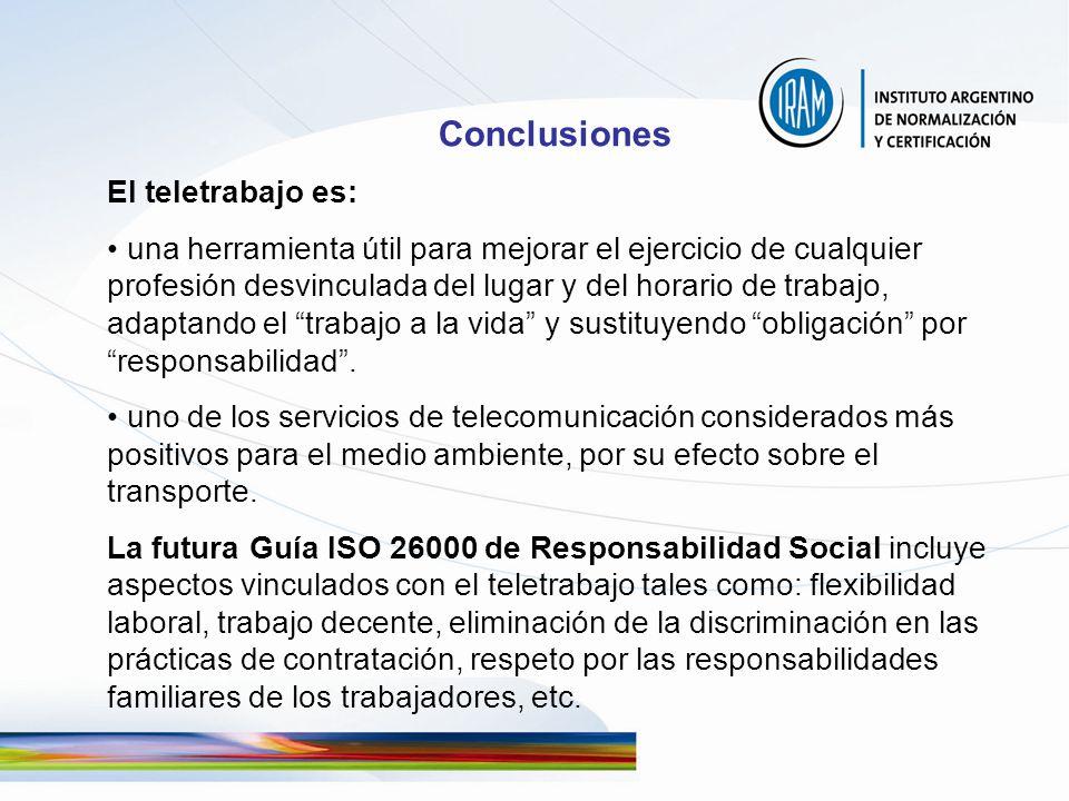 Conclusiones El teletrabajo es: