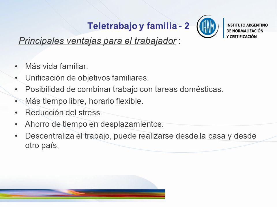 Teletrabajo y familia - 2