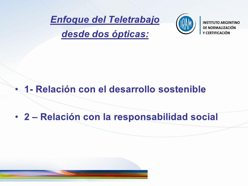 Enfoque del Teletrabajo desde dos ópticas: