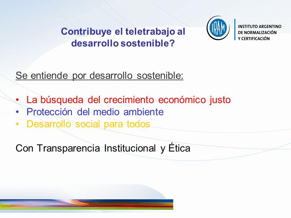 Contribuye el teletrabajo al desarrollo sostenible