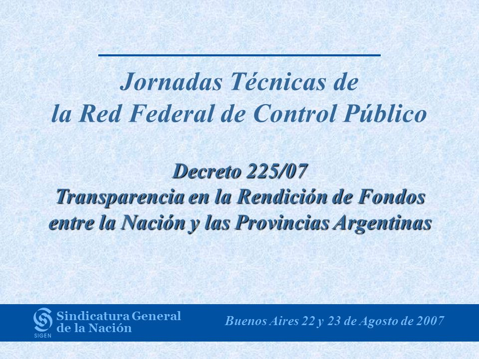 Jornadas Técnicas de la Red Federal de Control Público