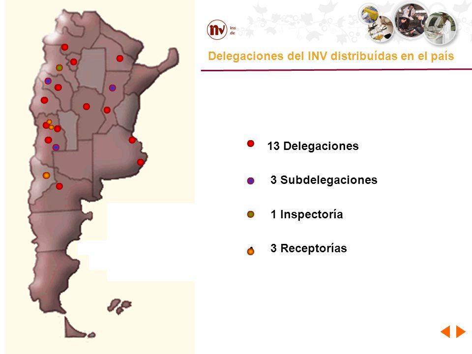 Delegaciones del INV distribuídas en el país