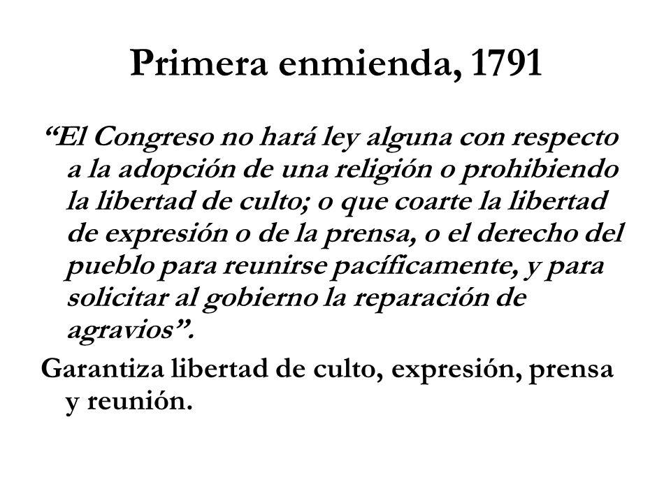 Primera enmienda, 1791