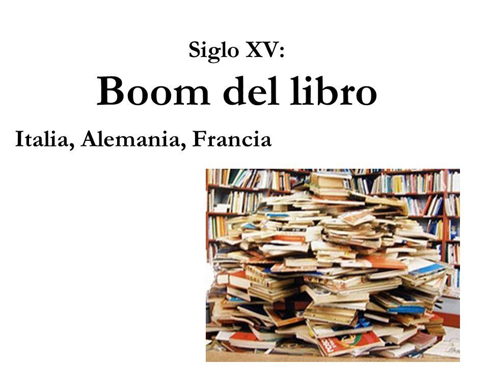 Siglo XV: Boom del libro