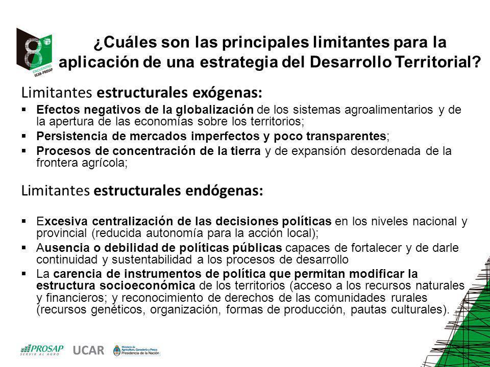Limitantes estructurales endógenas: