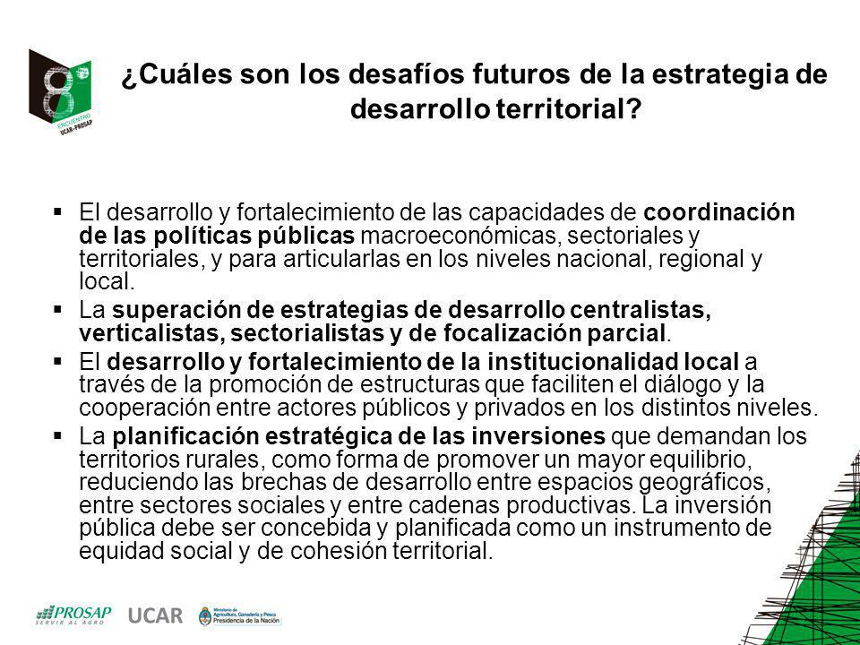 ¿Cuáles son los desafíos futuros de la estrategia de desarrollo territorial