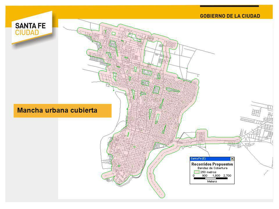 Mancha urbana cubierta
