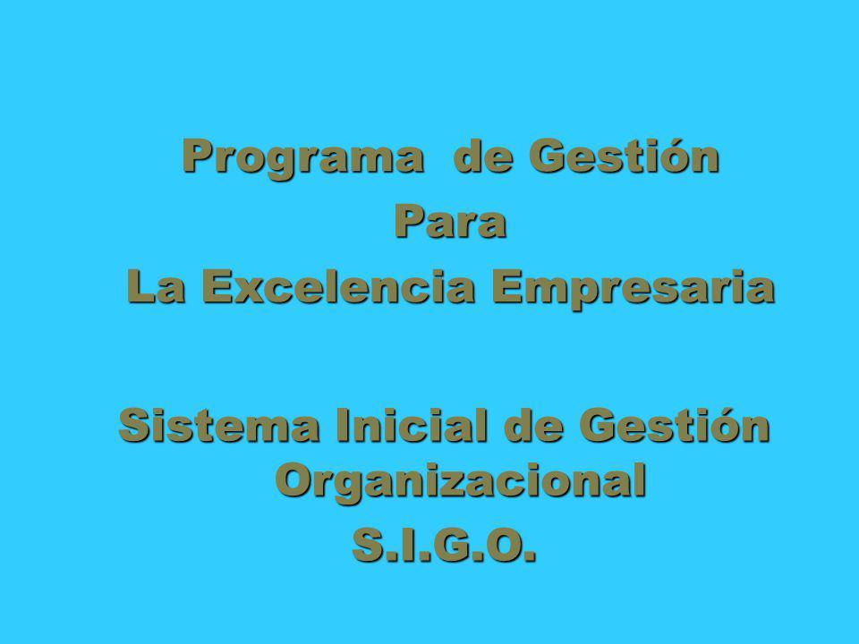 La Excelencia Empresaria Sistema Inicial de Gestión Organizacional