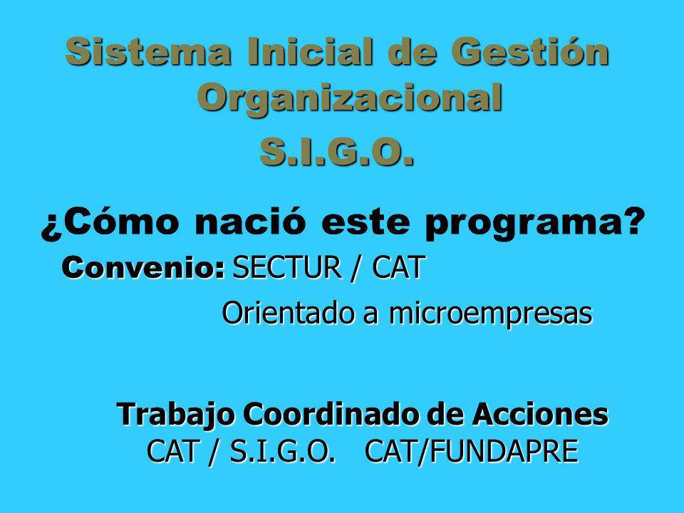 Sistema Inicial de Gestión Organizacional S.I.G.O.