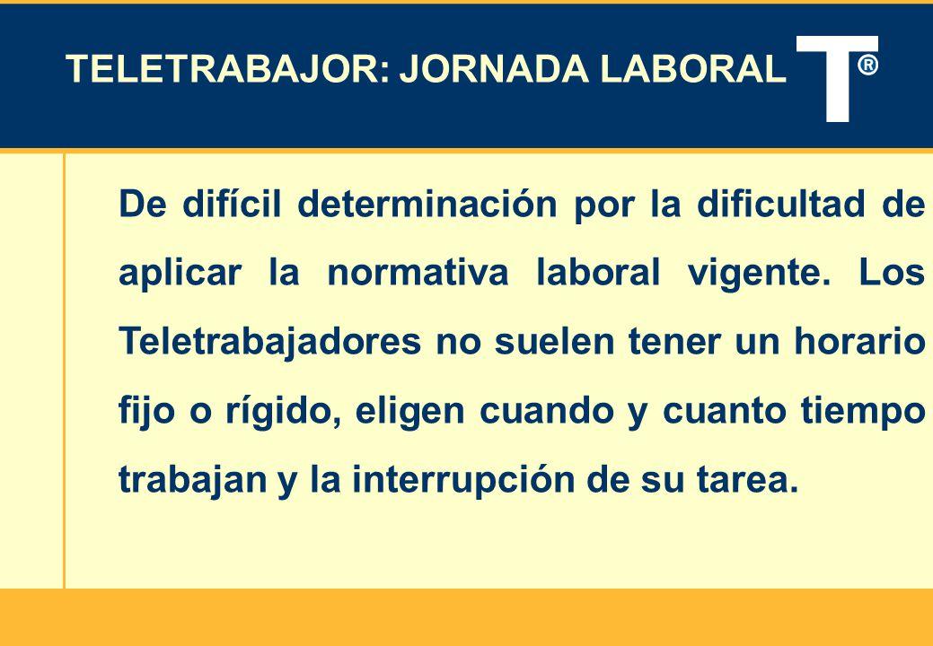TELETRABAJOR: JORNADA LABORAL