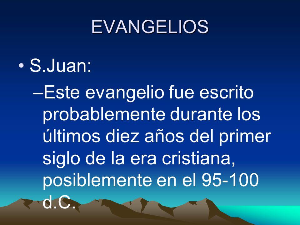 EVANGELIOS S.Juan:
