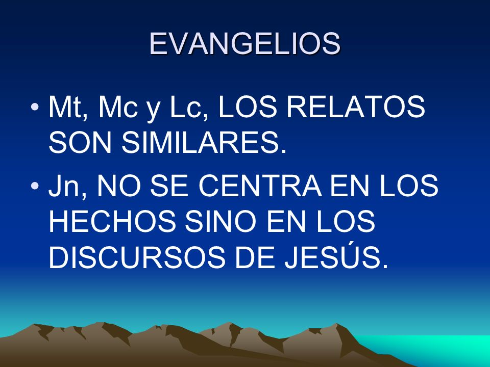 EVANGELIOS Mt, Mc y Lc, LOS RELATOS SON SIMILARES.