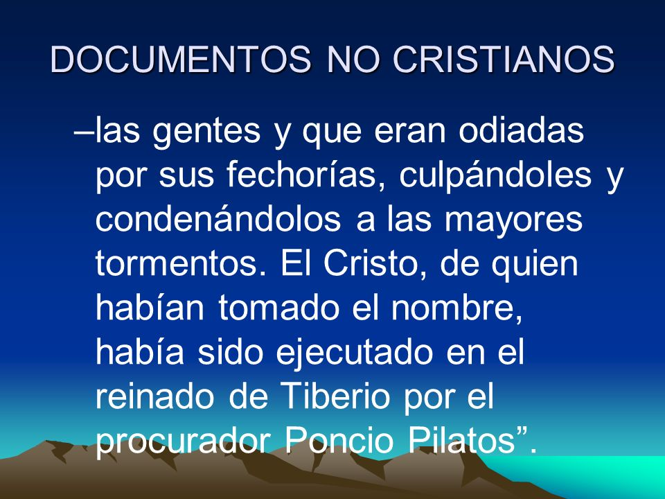 DOCUMENTOS NO CRISTIANOS