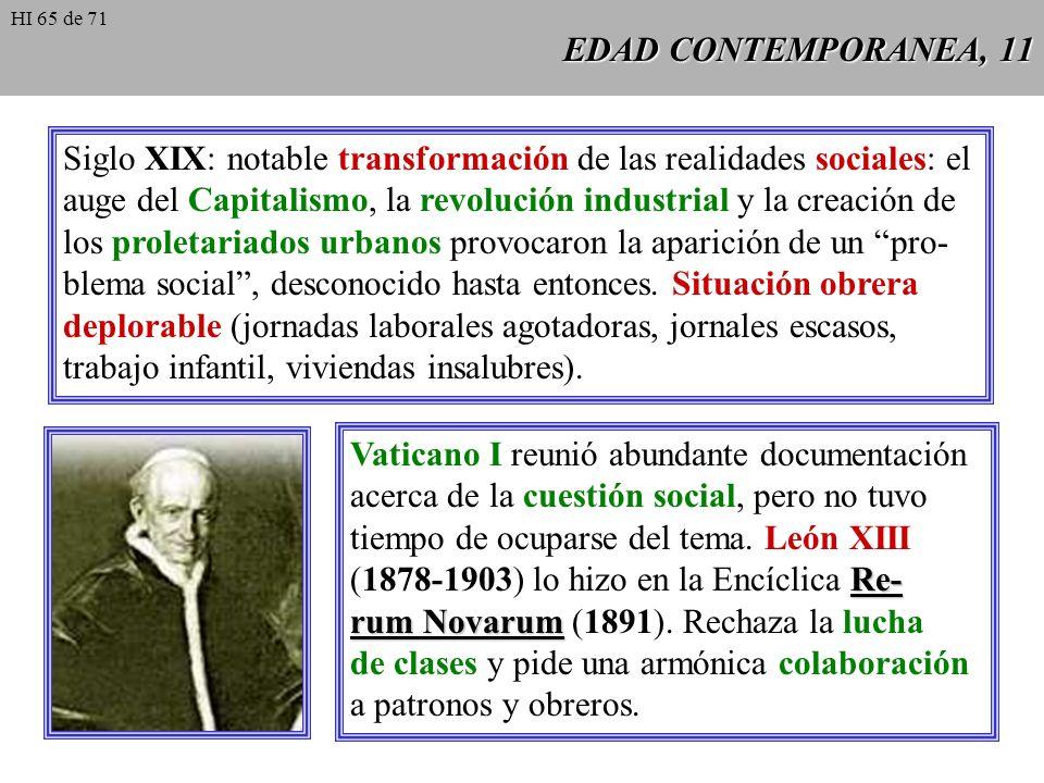 Siglo XIX: notable transformación de las realidades sociales: el