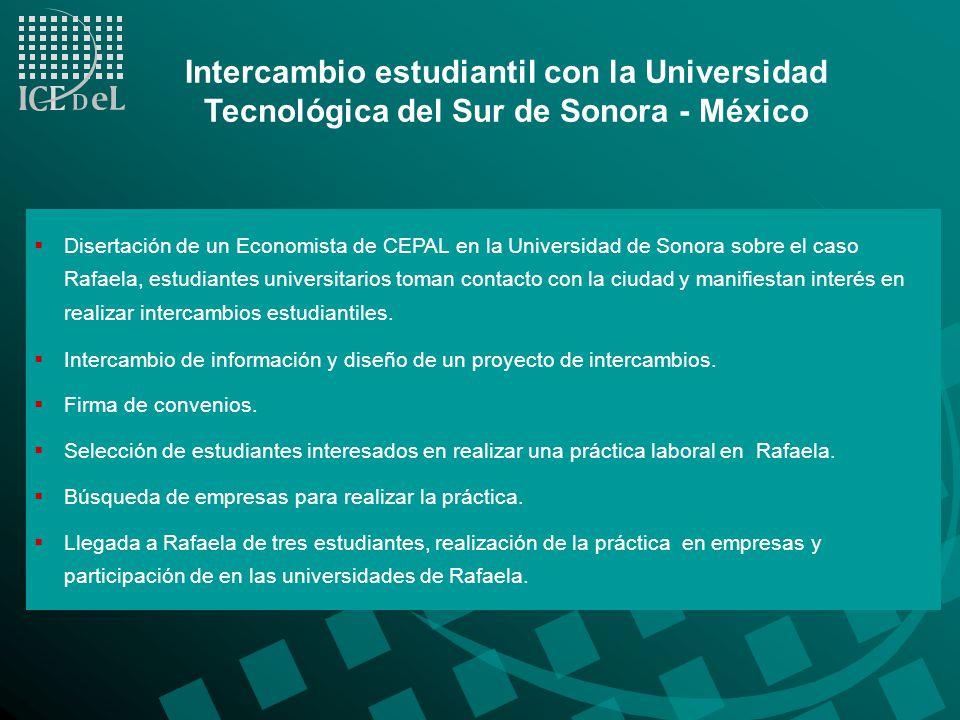 Intercambio estudiantil con la Universidad Tecnológica del Sur de Sonora - México