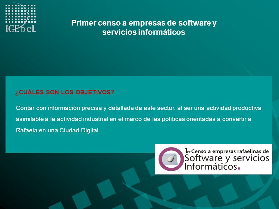 Primer censo a empresas de software y servicios informáticos