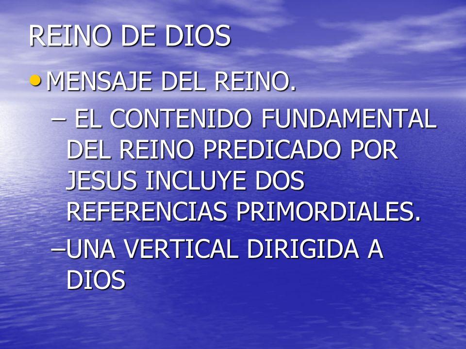 REINO DE DIOS MENSAJE DEL REINO.