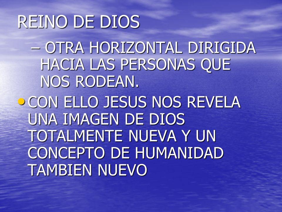 REINO DE DIOS OTRA HORIZONTAL DIRIGIDA HACIA LAS PERSONAS QUE NOS RODEAN.