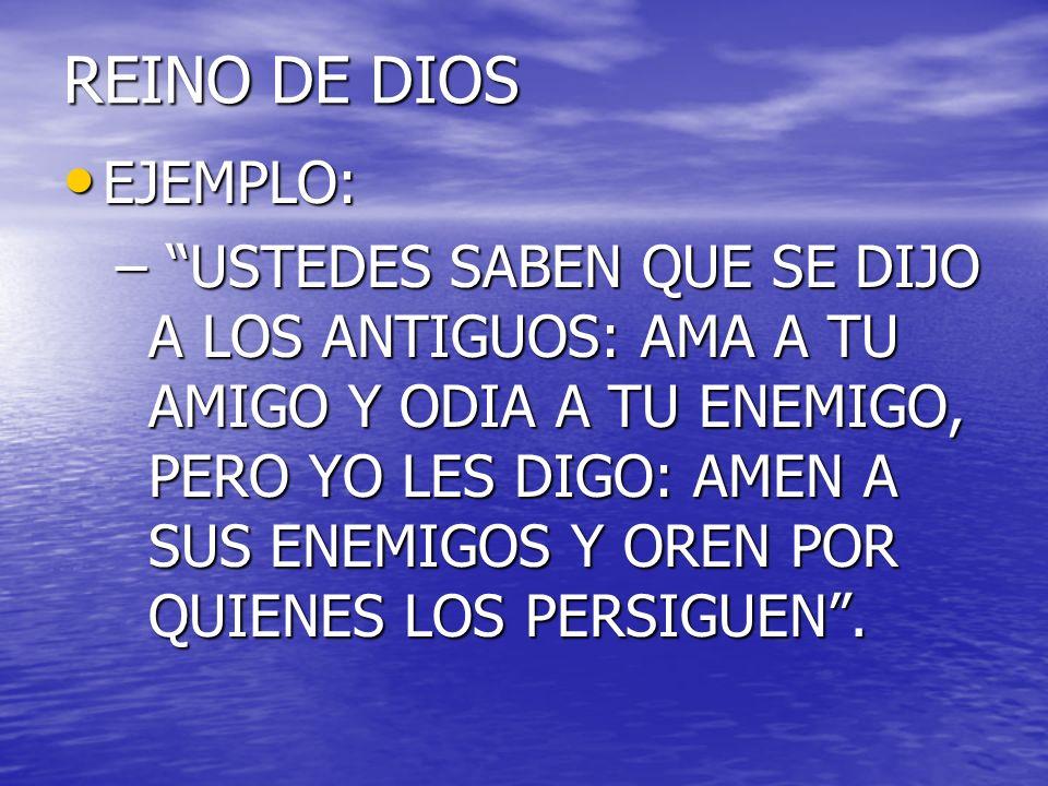 REINO DE DIOSEJEMPLO: