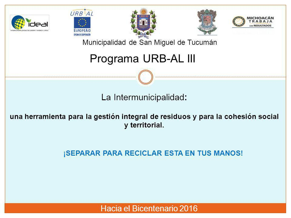 La Intermunicipalidad: