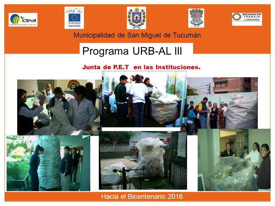 Programa URB-AL III Municipalidad de San Miguel de Tucumán