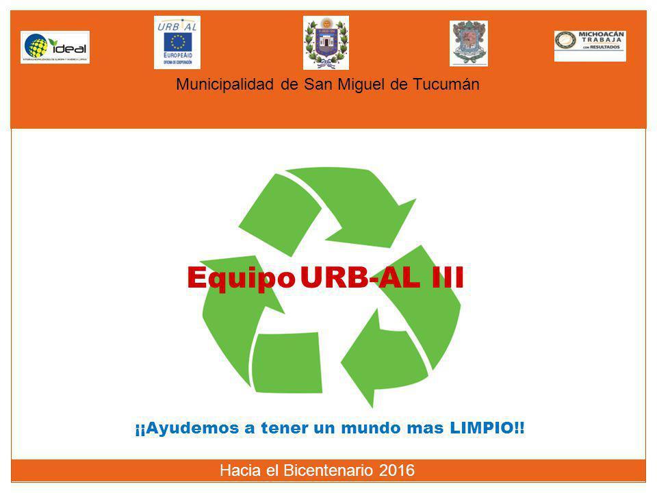 Equipo URB-AL III Municipalidad de San Miguel de Tucumán