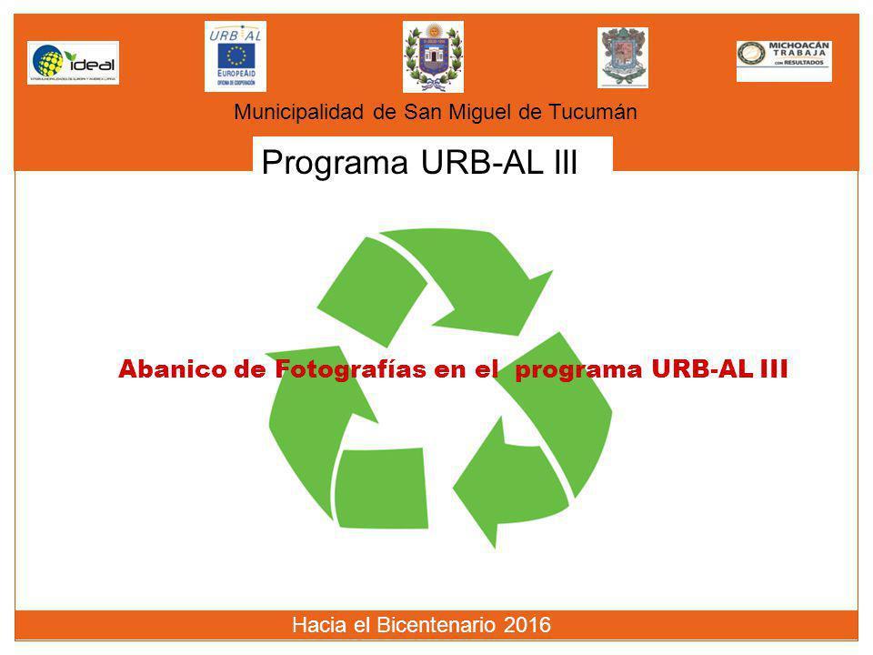 Programa URB-AL III Abanico de Fotografías en el programa URB-AL III